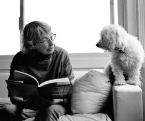 Mary Oliver with her beloved dog Percy.