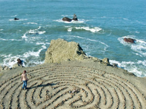 A meditation labyrinth located at Land's End Park in San Francisco, California.